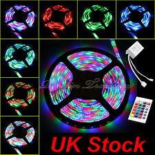 5m 3528 SMD RGB 300 LED Waterproof Flexible Strip Lighting Receiver Remote 12-Volt