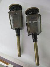 VINTAGE LIMOUSINE CARRIAGE PILLAR LAMPS BEAUTIFUL GLASS SET  M-167