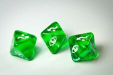 Dice X-Wing Miniatures Clear Green Defence Dice x 3