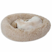 Diameter 30 Inch Dog Bed Relaxing Flexible Cozy Fluffy Warming Home House Decor