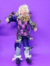 "9"" Elf Holiday Ornament Magic Renaissance Mardi Gras poseable Doll 1 of 2"