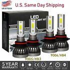 9005+9006 Combo LED Headlight Bulb Kit for Chevy Silverado1500 2500 HD 2001-2006