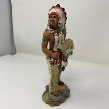 """The First Americans """" Counting Coup """" Russ Berry #13853 Indian w/ Ax Shield"""