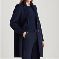 Lauren Ralph Lauren Women's Wool Blend Longline Coat | Navy - Small