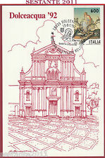 ITALIA MAXIMUM MAXI CARD DOLCEACQUA '92 FILATELICA RELIGIOSA S. DEVOTA 1992 C542