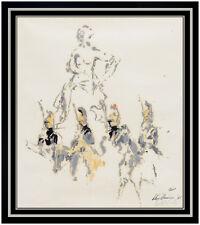 LeRoy Neiman Original Oil Painting Signed Paris France Cityscape Portrait Art