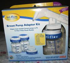NEW Munchkin Tri-Flow Nipple System Breast Pump Adaptor Kit