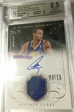 2013-14 NATIONAL TREASURES NIGHT MOVES AUTO: STEPHEN CURRY #9/49 AUTOGRAPH BGS