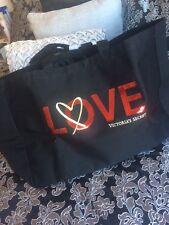 Victoria Secret Negro Large Rojo Amor's Logotipo Bolso Bolso Nuevo con Etiquetas Rrp £ 68