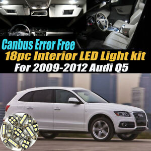 18Pc CANbus Error Free Car Interior LED White Light Kit for 2009-2012 Audi Q5