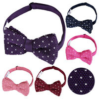 DQT Mens Bow Tie Knit Knitted Flecked V Dot Wedding Necktie FREE Pocket Square