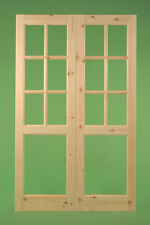 half galzed shed doors workshops/summerhouse/outbuildings