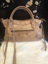 Authentic Balenciaga Agneau Beige Bag handbag purse