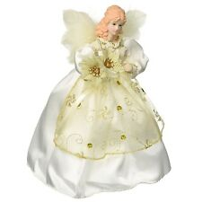 Lighted Christmas Tree Topper Angel Doll Decoration Holiday Home Decor Ornament