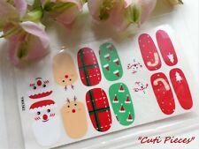 Self Adhesive Full Nail Polish Wrap Sticker Christmas Cane Santa Snowman 562x
