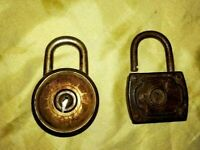 Antique Cast Iron Lock Brass Vintage Barrel Does Not Work! Beautiful old