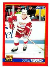 1991-92 Score Hot Card SERGEI FEDOROV (ex-mt) Detroit Red Wings