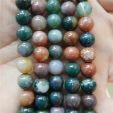 """8mm India Multicolor Agate Onyx Round Loose Beads Gemstones 15"""""""