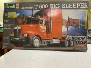 Revell Kenworth T600 BIG SLEEPER complete RARE 1:25 Model 1991