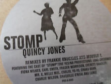 "Quincy Jones ""Stomp"" Frankie Knuckles Coolio Yo-Yo Chaka Khan Shaq 2 Vinyl LP"