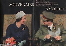 Coupure de presse Clipping 1961 Le Roi des Belges Baudouin & Fabiola (12 pages)