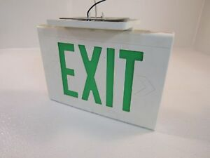 Hubbell Lighted Exit Sign 13in x 9in Single Side 13in x 9in LED LXUGWE