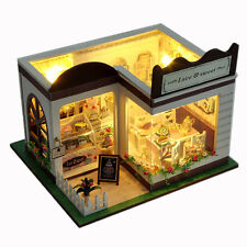 Dollhouse Miniature DIY Kit Dolls House Handicraft Idea Gift Sweet Cake Store