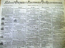 <1798 Baltimore MARYLAND newspaper w ad for SALE OF BLACK N-gro BOY as a SLAVE