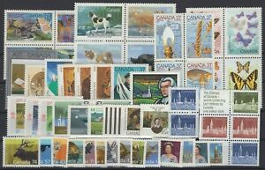 DK150194/ CANADA / Y&T # 1030 / 1079 MINT MNH – COMPLETE YEAR 1988