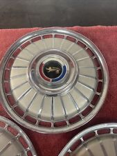 1962 Ford Galaxie Fairlane Set Of 3 Hubcaps 62 Oem Wheel Cover Vintage