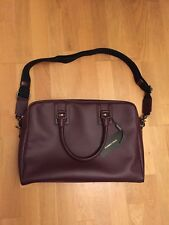 New Dolce & Gabbana Burgundy Leather Work Bag D&G BM0945