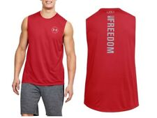 Under Armour * UA Freedom Threadborne Tank Red for Men