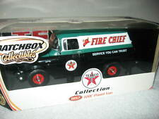 TEXACO FIRE CHIEF 1957 GMC PANEL DELIVERY VAN 1:18 MATCHBOX NIB FREE SHIPPING