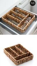 Organizador Cubiertos de Hoja de Maíz 36x9x29 cm,4 compartimentos,estilo rústico