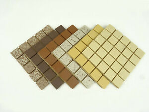 20mm Unglazed Porcelain Mosaic Tiles, The Browns 150 Tile Pack