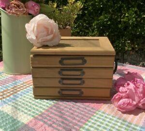 """6x4"""" Photo Box Storage, Photo Album Wooden - Wedding, Gift - 'Photos De Famille'"""