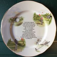 VINTAGE: A GOLFER'S DREAM. ROCK COTTAGE CRAFTS CABINET PLATE. VGC. UK Dispatch.