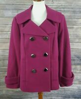STYLE & CO. Stretch Women's L Large Peacoat Jacket Double Breasted Coat