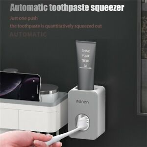 Automatisch Zahnpastaspender Wand Montiert Zahnbürstenhalter ohne Bohren DHL