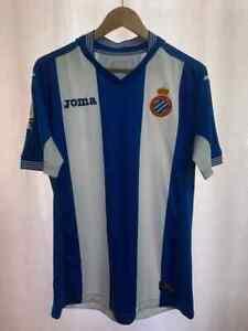 RCD ESPANYOL SPAIN 2015/2016 HOME FOOTBALL SHIRT JERSEY SIZE M JOMA