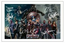 CAST -  CAPTAIN AMERICA CIVIL WAR MULTI SIGNED AUTOGRAPH PHOTO PRINT
