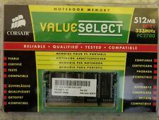 Corsair 512MB DDR1 333 MHz PC 2700 Desktop FAST Memory DRAM RAM Drive Card NEW