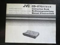 JVC Vintage CD-1770 cassette deck Original Instruction Book Manual