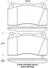 Disc Brake Pad Set-Base Front,Rear Stoptech 308.10010