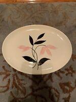 Vtg 1955 Stetson Platter Handpainted Pink Flower STT30 Midcentury Modern