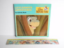 Vtg Rare 1988 Land Before Time Littlefoot'S Adventures An Activity Book & Ruler