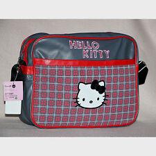 SANRIO sac à bandoulières ou voyage HELLO KITTY gris et rouge NEUF