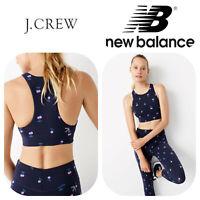 🆕J. CREW NEW BALANCE Women's XS NAVY Performance Crop Top Fitness Gym Yoga🆕️