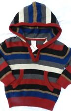 Sweater Striped Hooded Gymboree Vneck Long Sleeve Cotton Boy size 6-12 mo New