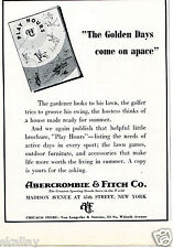 1938 Vintage Print Ad of Ambercrombie & Fitch Co New York NY